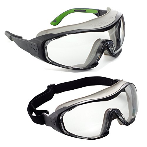 Univet 511.00.03.01No.511 Safety Goggles with Clear Glass Black