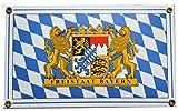 Freistaat Bayern Raute Emailschild Emaille Schild 15 x 25 cm Email .