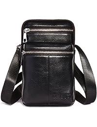 eb6ad213e Leathario Bolso Cinturón de Cuero Riñonera para hombre-Pequeña bolsa de  bandorela-Funda para