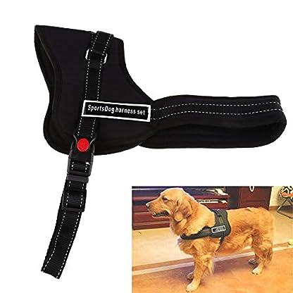 Chinatera Comfortable Medium Large Size Dog Pet Adjustable Soft Chest Harness (Black, S: chest 50-60cm) 1