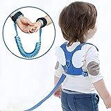 OFUN Imbracatura di Sicurezza per Bambini,Cintura Anti-Perso da Polso Cintura da Bambino Sicurezza da Corsa Assistant Strap Angel Wings Zaino da Viaggio (1 Pacco, Blu)