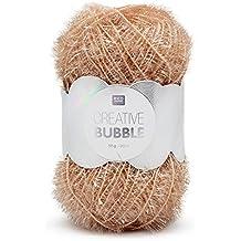 RICO Design -Gomitolo di filo, modello: Creative Bubble, per lavori a maglia e di cucito, per creare le vostre spugne tawashi e per decorazioni Cipria