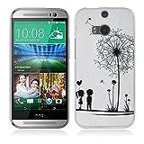Coque HTC One M8, Fubaoda 3D Gaufrer Mode Modèle Étui TPU silicone élégant et sobre pour HTC One M8