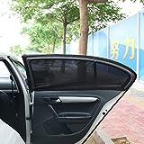 AmYin Las cortinas de quitasol universales y transpirables son adecuadas para la ventana lateral del asiento trasero, son aptas para la mayoría de los coches (2 piezas)