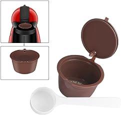 Ourleeme ricaricabile riutilizzabile capsule Dolce Gusto capsule di caffè con cucchiaino da caffè compatibili per Nescafe genio, piccolo, esperta and circolo