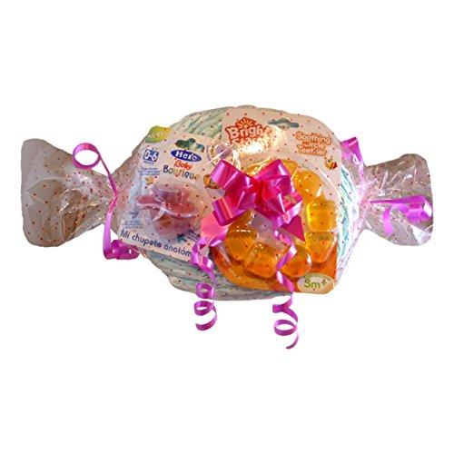 Tarta de pañales caramelo completo para niña Low Cost