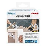 Reer 51010 KIndersicherung nach DIN EN 16948 Magnetschloss für Schranktüren und Schubladen, nur mit Magnetschlüssel zu öffnen