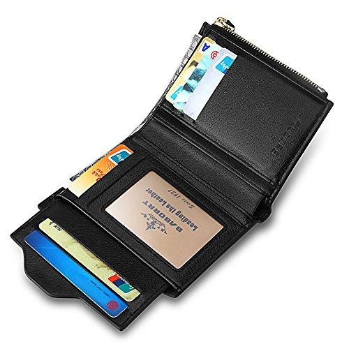 ef9b363278 Expresstech @ RFID Bloccaggio Portafoglio PU cuoio con tasca di moneta con  cerniera supporto porta carte ...