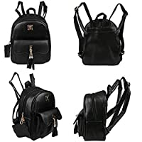 asterisknewly Fashion Ladies Shoulder Bag PU Leather Tassel Bag Casual Portable Zipper Travel Bag