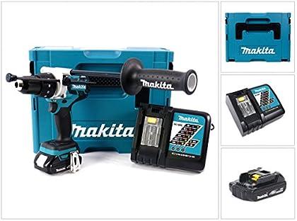 Makita DHP 481 Y1J - pilas D atornillador de impacto incluye 1 x 1,5 AH batería + cargador