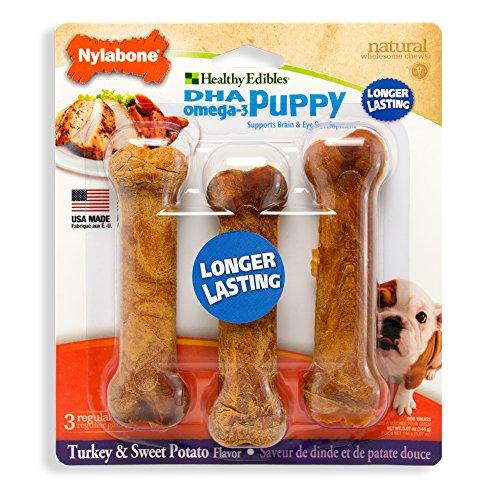 Artikelbild: Nylabone Gesunde Essbar Hund kauen behandeln Knochen für Welpen