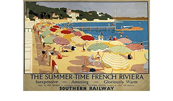 Vintage Southern Railways French Riviera Railway Poster Print A3//A4