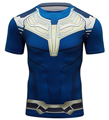 Cody Lundin Tight Sport Tops para Hombre Movies Hero Mangas Cortas y sin Mangas para Hombres Capas Base Fitness Camisas (Mangas Cortas, M)