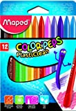 Maped M862011 - Malstifte Color Peps Plasticlean, 12er Packung