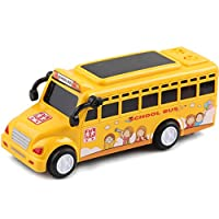 mi ji Inertia Toys, Model Toy School Bus With Beautiful Attractive Flashing Lights and Sounds