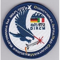 Parche, Parches Termoadhesivos,Parche Bordado Para la Ropa Termoadhesivo ,,Italian Patch Air Force Aeronautica Militare AM Gruppo 50 DIRCM 9,1cm,,