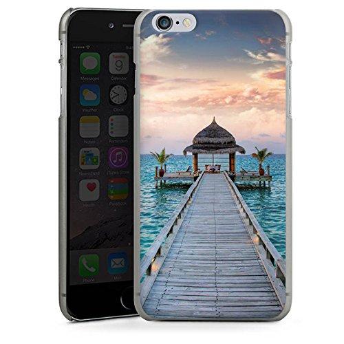 Apple iPhone X Silikon Hülle Case Schutzhülle Steg Urlaub Meer Hard Case anthrazit-klar