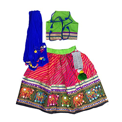 Aglare Girl's Cotton Lehenga Choli (alk1040500_2-3 years_red _Red_ 2-3 Years)