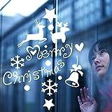 Modeganqingg Star Christmas Vinyl wandaufkleber Fenster Home Shop Dekoration abnehmbare Geschenk Dekoration Kinder Wohnzimmer tapete wandbild weiß 57x73 cm