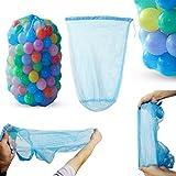 Lunji Mesh Strandtasche Strandspielzeug Tasche für Ozean Ball Sandspielzeug für Kleinkind Kinder...