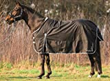 HKM Cavallino Marino Outdoor Rug -Atlantis- 3600 D With Polar Fleece Lining Eu135/Uk6'0/Us 72 Night Blue