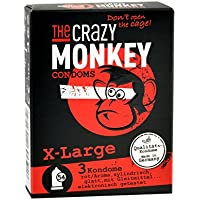 The Crazy Monkey Condoms X-Large, 3er Packung preisvergleich bei billige-tabletten.eu