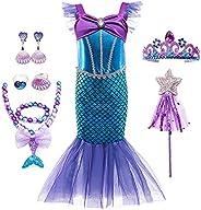 VanStar Mermaid Dress Girls Party Cosplay Girl Clothing Birthday Princess Dress Kids Costume With Princess Jew
