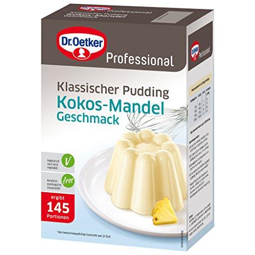 Dr. Oetker Professional Klassischer Pudding mit Kokos-Mandel-Geschmack, Puddingpulver in 1 kg Packung