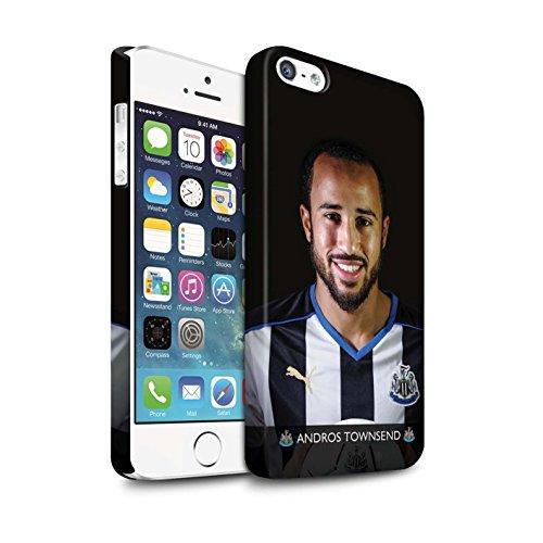 Officiel Newcastle United FC Coque / Clipser Matte Etui pour Apple iPhone SE / Pack 25pcs Design / NUFC Joueur Football 15/16 Collection Townsend