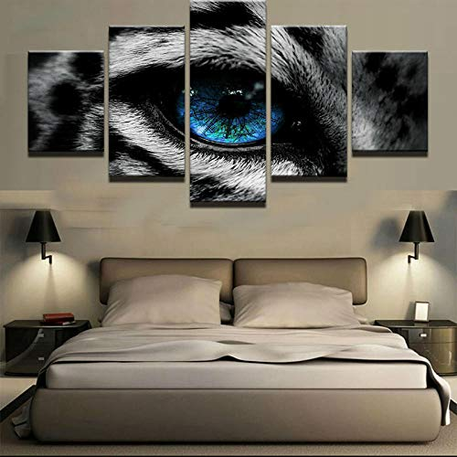 sanjiiNG 5 stücke leinwand gemälde Tier Tigerauge Bilder wohnkultur poster print wandkunst30cmX40cmX2 30cmX60cmX2 30cmX80cmX1