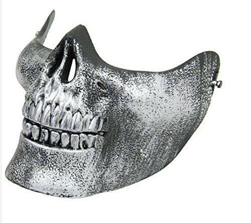 Preisvergleich Produktbild Edealing 1PCS PVC-halber Gesichts-Schutz Skeleton Schädel-Maske Für CS Gun Game