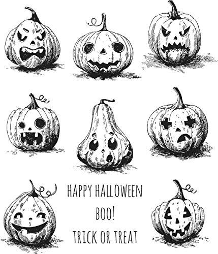(Unbekannt Stempel Anonymous Das Halloween Selbst Gummi-Stempel-Set, Kunststoff, Mehrfarbig, 24,8x 18,6x 0,8cm)