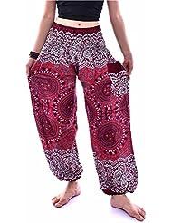 d0971dfe36588 VENMO Hombres mujeres tailandesas pantalones de harén Festival hippy  delantal hippie alta cintura pantalones de yoga