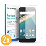 smartect Panzerglas für LG Google Nexus 5X [2 Stück] - Bildschirmschutz mit 9H Härte - Blasenfreie Schutzfolie - Anti Fingerprint Panzerglasfolie