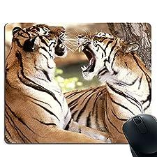 Zwei Tiger aus hochwertigem, dickem Gummi-Mauspad sorgen für ein angenehmes Gefühl