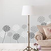 Schablonen Set 3 x A4 Wiederverwendbar für Textil Wand Möbel etc Zahlen