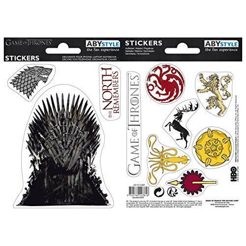X5 Game of Thrones Stark Sigils Stickers – 16