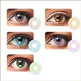 Coorun 1 Paar Farbige Kontaktlinsen Jahreslinsen Weich Natürliche ohne Stärke - aus hochwertigen Materialien,angenehm zu Tragen - Gesamtdurchmesser: 14.2 mm - Wassergehalt: 38%- einfach zu reinigen