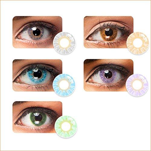 Sisaki 1 Paar Farbige Kontaktlinsen Jahreslinsen Weich Natürliche ohne Stärke - aus hochwertigen Materialien,angenehm zu Tragen - Gesamtdurchmesser: 14.2 mm - Wassergehalt: 38%- einfach zu reinigen