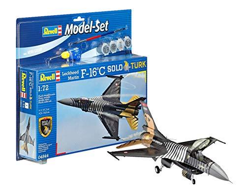 Revell - 64844 - Maquette D'aviation - Model Set F-16 C - Solo Turk - 129 Pièces - Echelle 1/72
