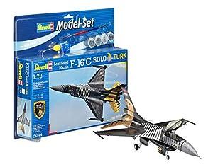 Revell - Maqueta Modelo Set F-16 C Solo Türk, Escala 1:72 (64844)