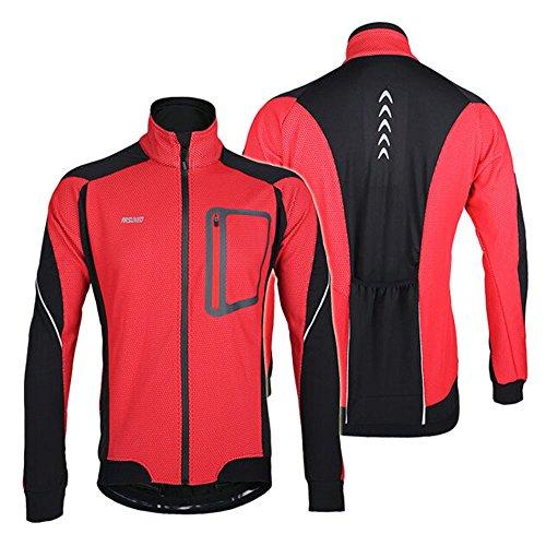Docooler Giacca Ciclismo Antivento Manica Lunga Inverno Caldo Biciclette MTB Abbigliamento