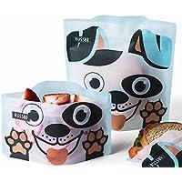 RUSSBE - Juego de 4 bolsas de sándwich reutilizables con diseño de perro