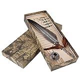 HILITAND Set penna a penna con penna calligrafica e pennino e pennini in acciaio inox 5 pezzi in diverse dimensioni(Farbverlauf Schwarz)