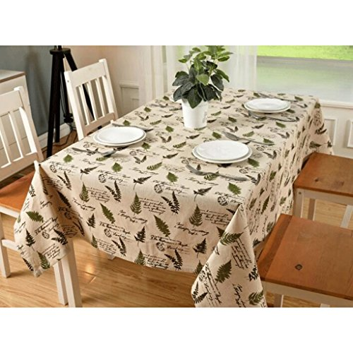 YYF nappe de table Fashion Olive Leaf Printing Nappe de lin (taille : 140*250cm)