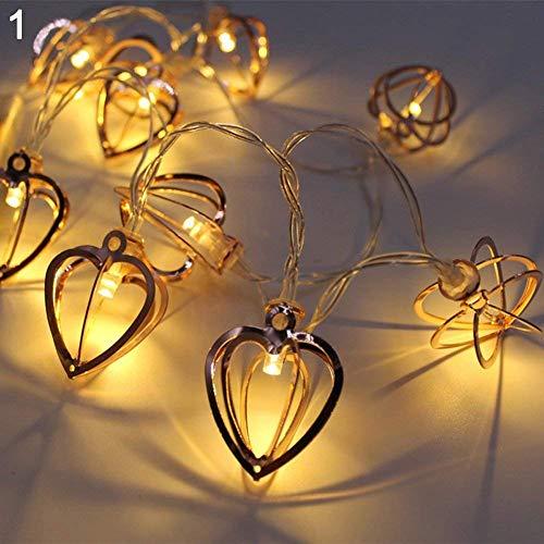 LED Lichterkette, LED Halloween-Lichterketten, LED Weihnachtsbeleuchtung, 3.3 M 20LED, für Weihnachten, Halloween, Balkon, Außen Deko, Innen, Hochzeit, Party usw, Batteriebetrieben, Warmweiß