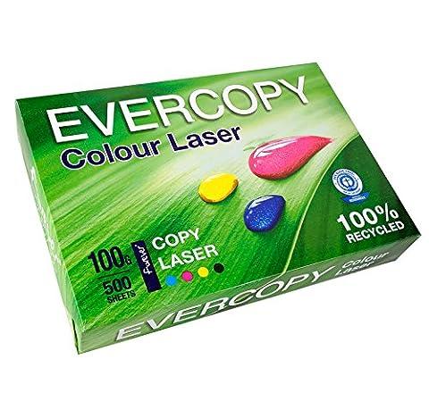 Clairefontaine 50022C Rame de 500 feuilles Forever Colour Laser A4 100g/m² Blanc
