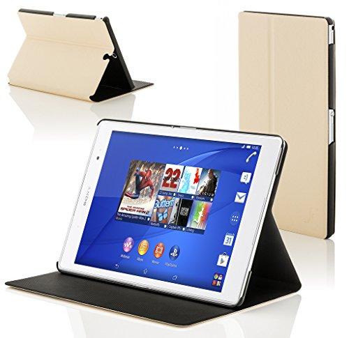 sony xperia z3 tablet Forefront Cases® Sony Xperia Z3 Tablet Compact 8 inch SGP611 Smart Custodia Caso Case Cover Conchiglia - Ultra Sottile con Protezione Dispositivo Completa e funzione Auto Sveglia/Sonno (BIANCO)