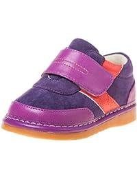 Little Blue Lamb - Zapatos de cuero chirriantes - squeaky shoes niñas | Zapatillas de color morado