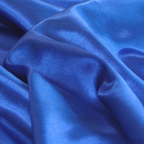 Glanz Satin Modestoff/Deko-Stoff/Kostümstoff als Meterware am Stück (Royal-Blau)